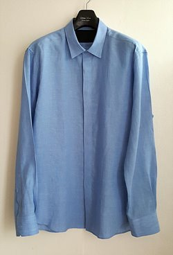 Luthai Super Soft Linen 100% Shirt / Blue [Comfort Fit]
