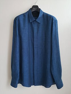 Luthai Super Soft Linen 100% Shirt / Dark Blue [Comfort Fit]